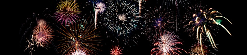 Fireworks, Schoolcraft, by Jansen Photography. Composite of multiple exposures.
